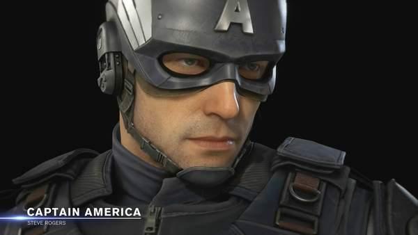 《漫威复仇者联盟》美国队长介绍演示建模细看还挺帅