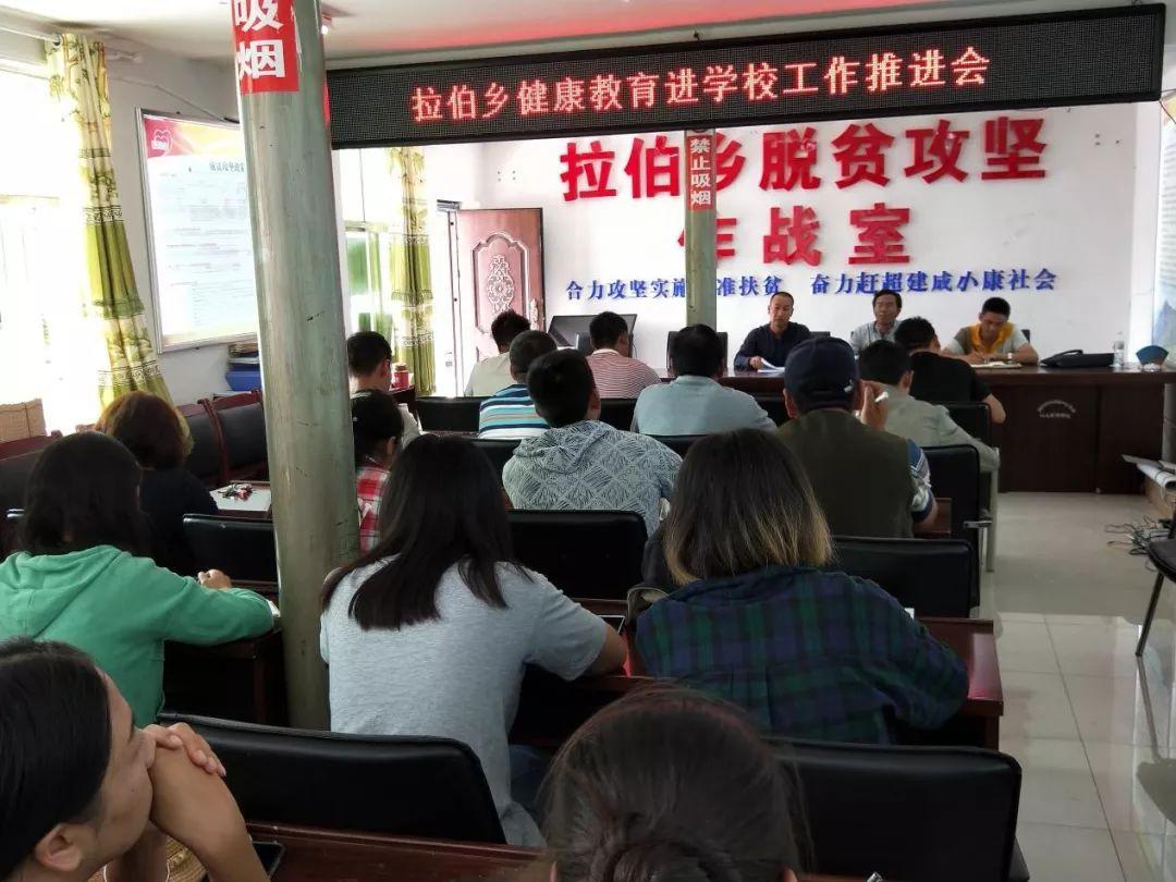 丽江市卫生健康委在宁蒗县拉伯乡组织召开健康教育进学校推进会