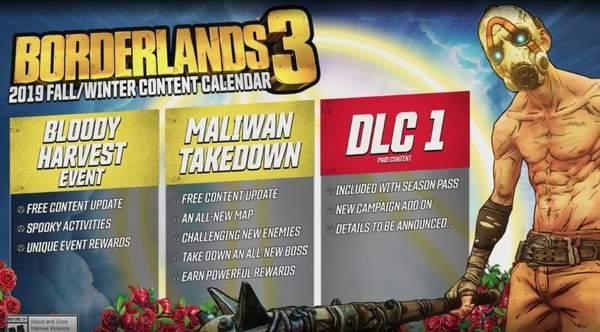 《无主之地3》发售后续计划公布大型付费DLC年底推出