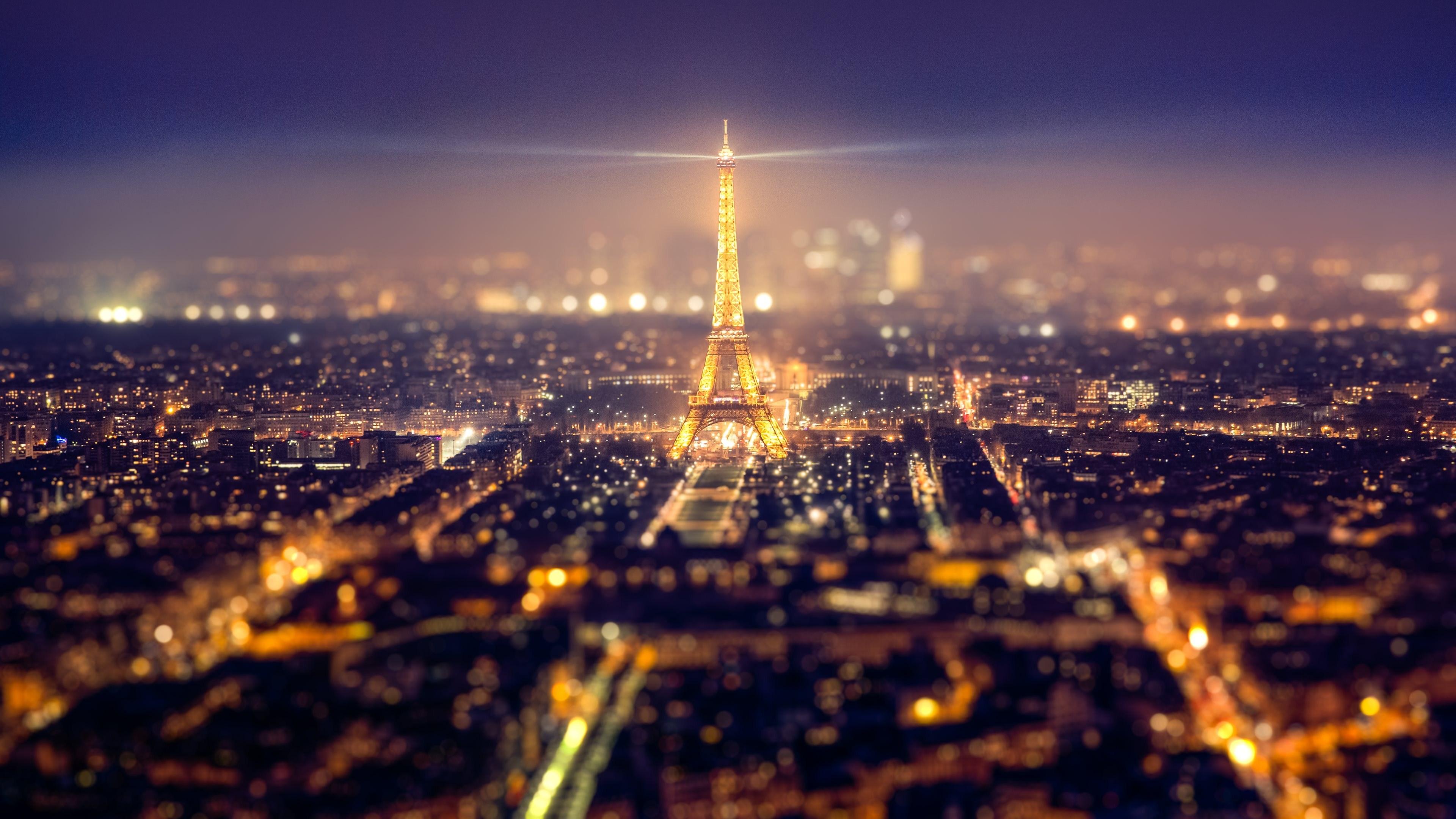 艾菲尔巴黎铁塔星空