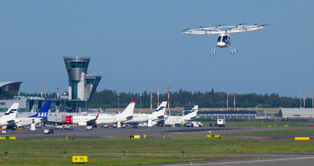 """德创企""""空中出租车""""初次在国际机场试飞 经过过程贸易飞翔验证门槛"""