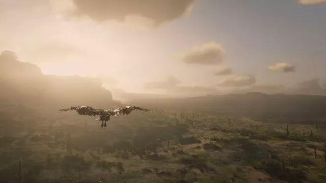 当你化身为鸟,在《荒野大镖客2》的世界翱翔时