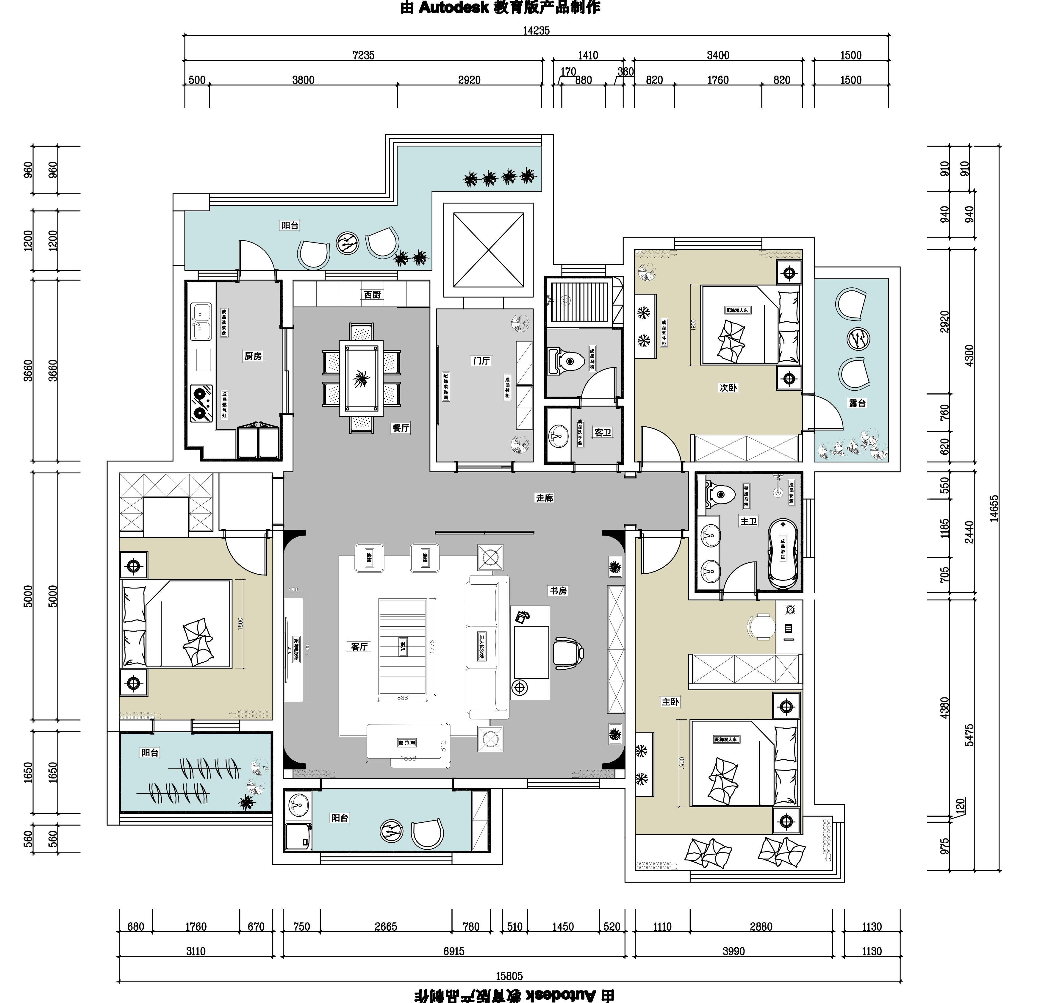 济宁绿地国际城172平户型图 简单的现代风格配有中式的一些材料搭配