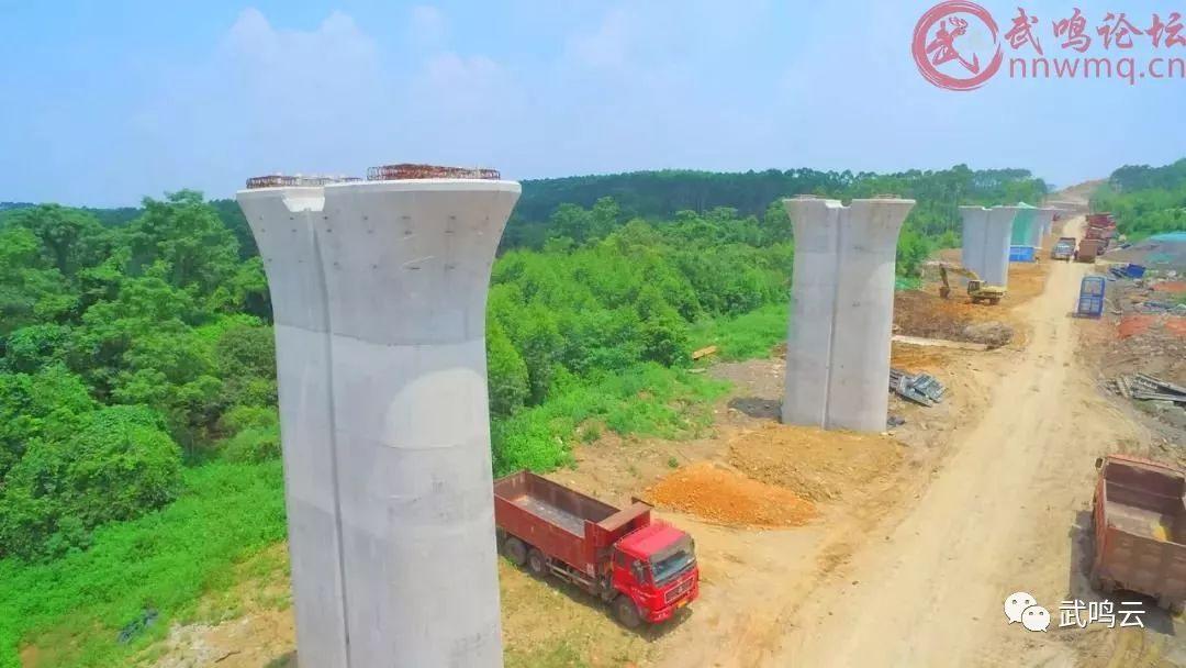 重磅 航拍标注图来了 武鸣拥抱高铁建设最新进展 武鸣云