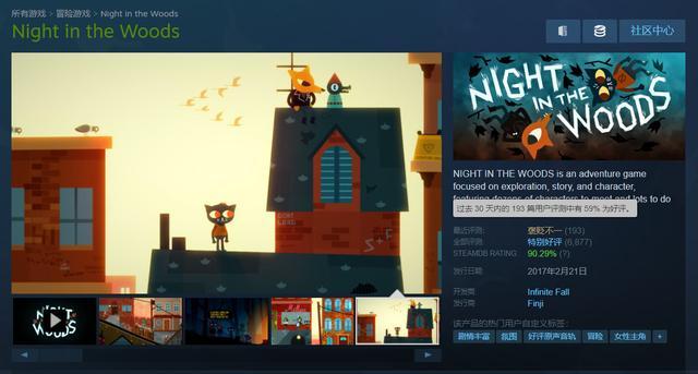 《林中之夜》Steam遭遇差评轰炸玩家指责开发商背叛主创