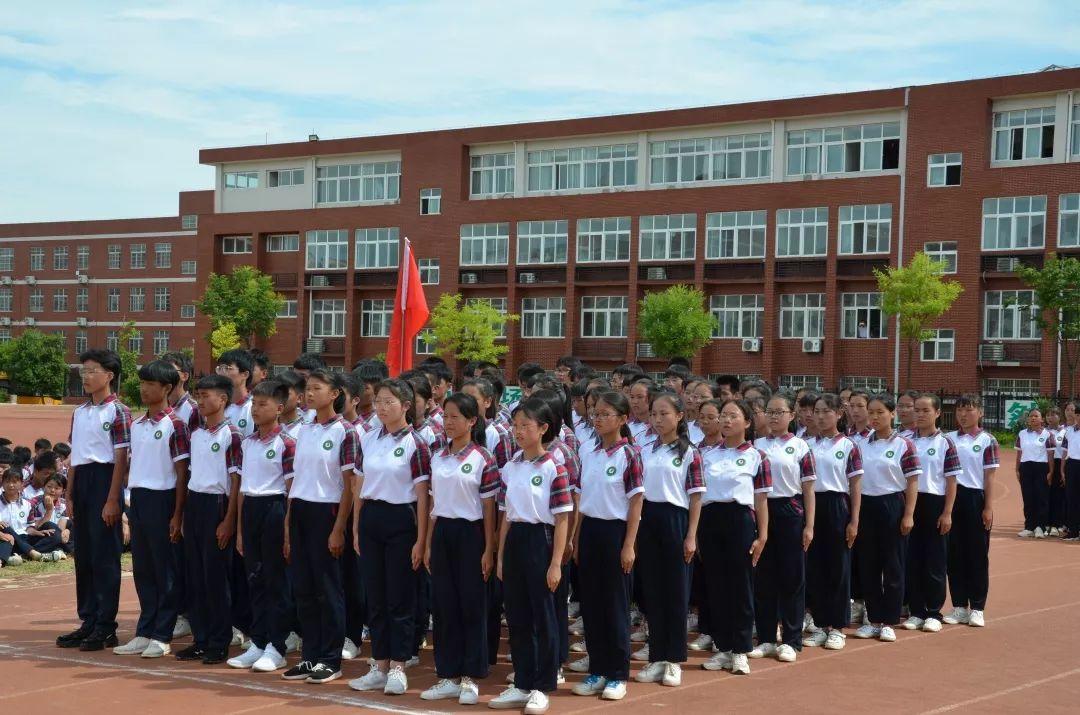 固始县永和中学2019级高一军训会操表演精彩呈现