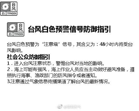 深圳台风白色预警失效,将来五天多降雨