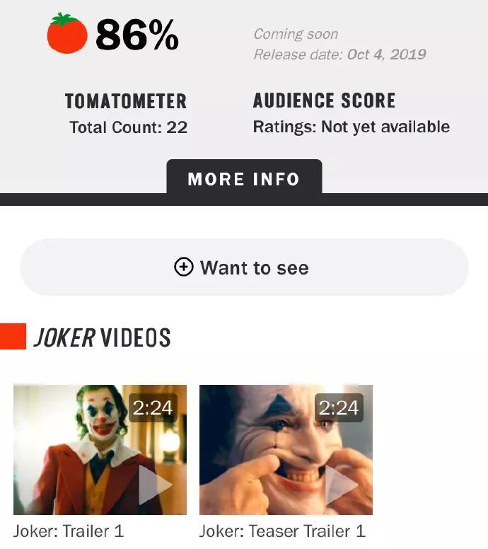 《小丑》首映口碑爆炸!导演发话:本片和DC漫威没关系!