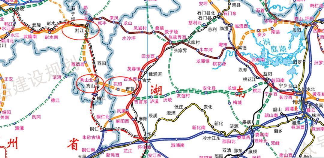 最新版国家铁路网建设规划图出炉 看看哪些线路经过湘西