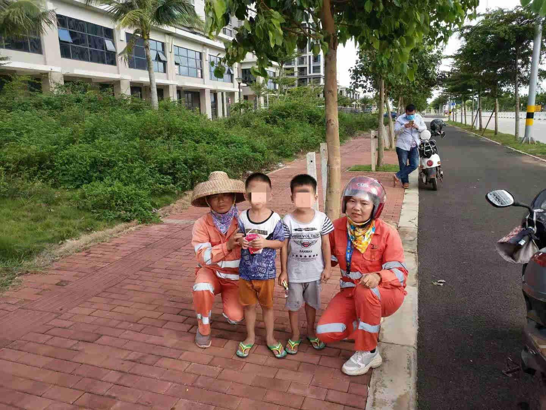 2名走失男童已找到家人为相助注册恩佐环卫工人点赞