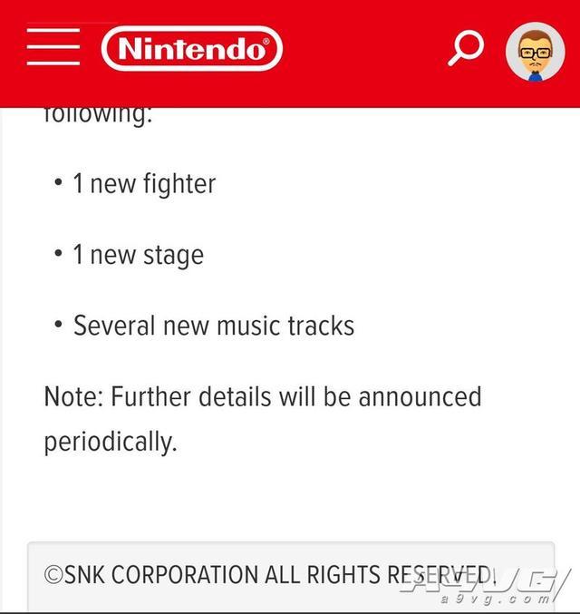 传闻:《任天堂明星大乱斗特别版》第四位DLC斗士或来自SNK