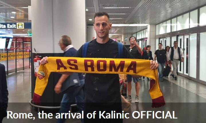 官方:马竞前锋卡利尼奇重回意甲 租借加盟罗马