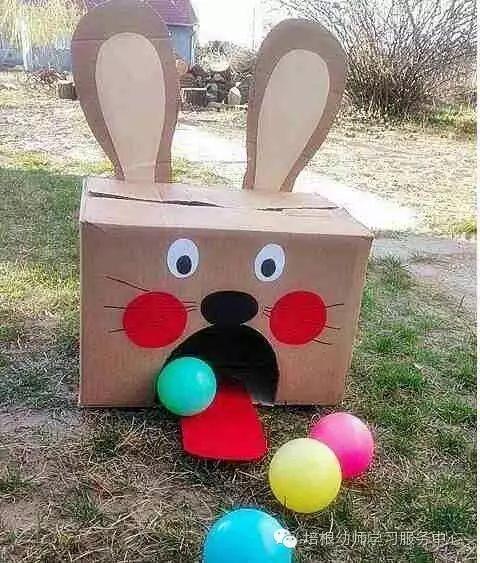 小兔纸箱手工制作图片