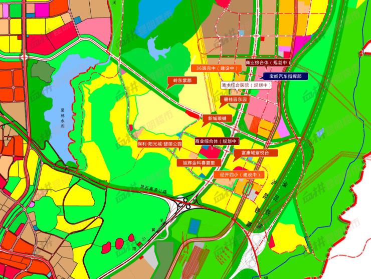 黄土坡清水片区规划图