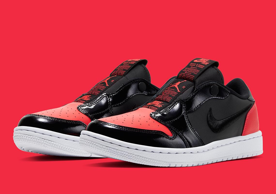 Jordan Brand 出一脚蹬啦?Air Jordan 1 Low Slip 黑红官图释出!