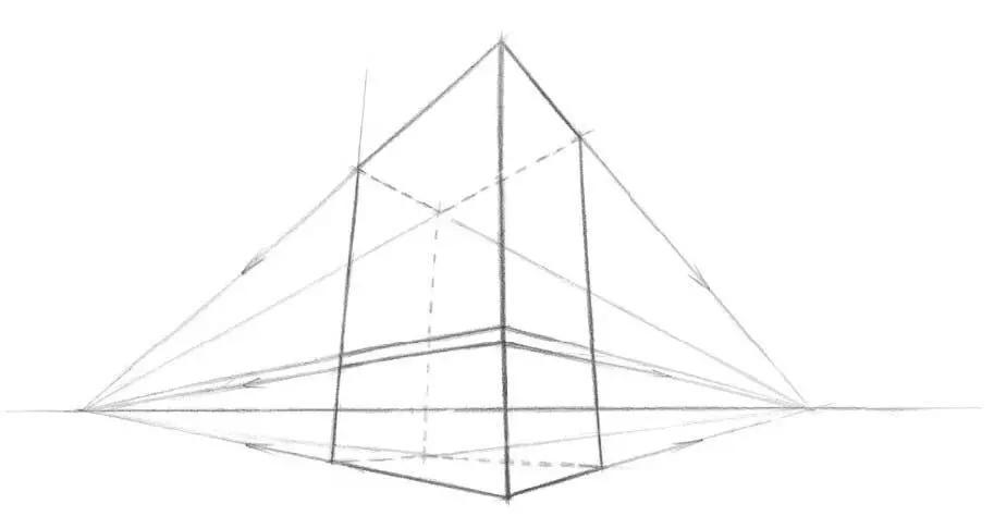 带透视的黑白设计图
