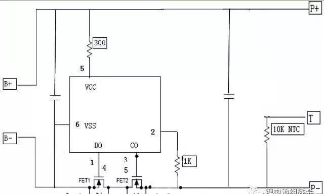 a:3.7v保护板电路图配置