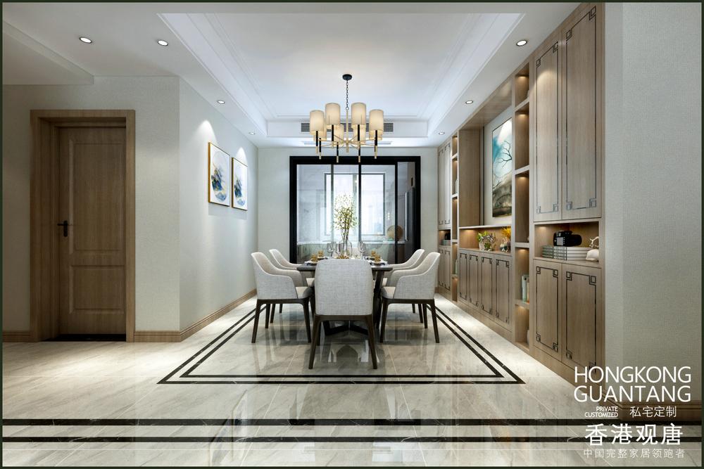 滕州星尚城179平现代新中式风格家装效果图 原木色让家更纯粹 滕州观