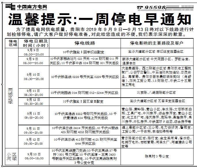 【停水停电】明天,北京西路、广信四季家园等区域要停水!下周,有些路段要停电!