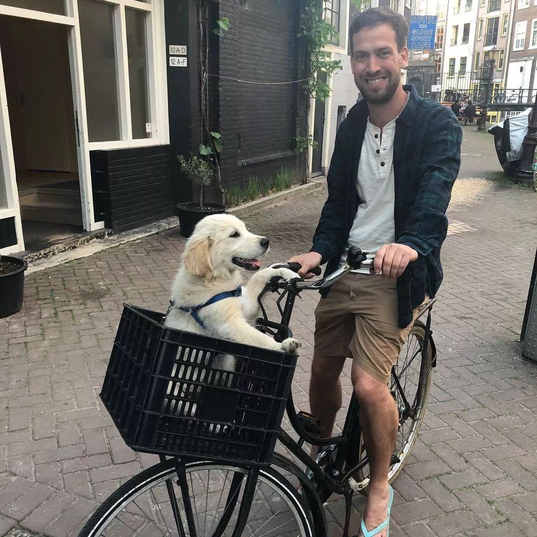 外國小哥發明「人狗雙座」自行車,網友看到瘋了:好想擁有。-Dog Time