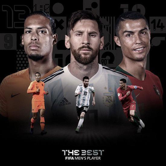 FIFA官方宣布2019世界足球先生前三人选