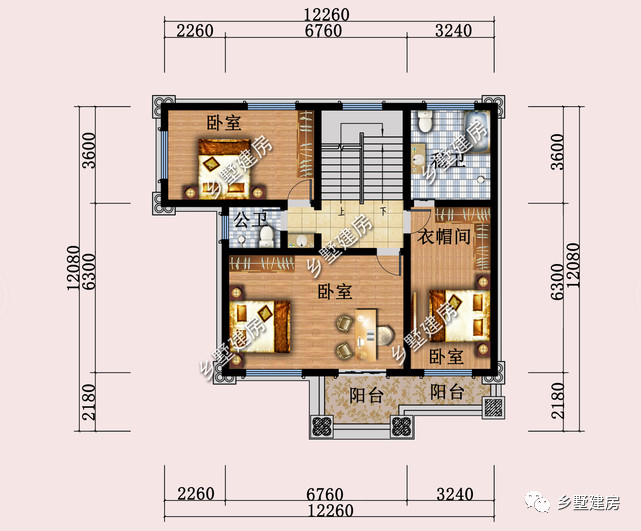 别墅主卧室平面设计图