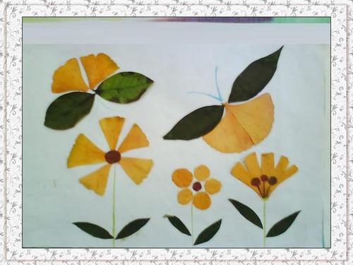 原创            幼儿园亲子作业:树叶画,最后一张太有创意了,家长真有才