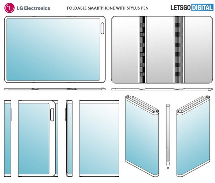 LG双折叠屏专利公布,带有手写笔