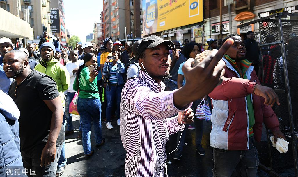 南非排外骚乱华人商铺被洗劫,我领馆发提醒