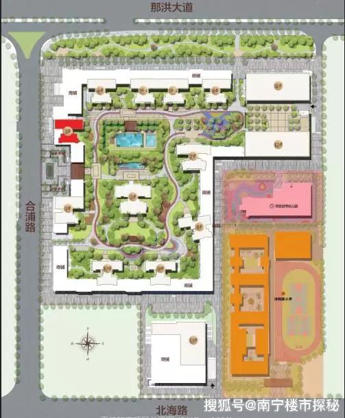 南宁三中校园平面图