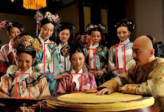 """清宫剧中女眷脖子上的""""白布条""""是干什么的?围巾、擦嘴?"""
