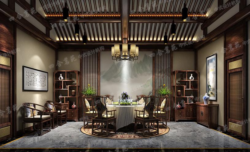 中式房屋装修 以简洁明快的风格勾勒出了优美的画
