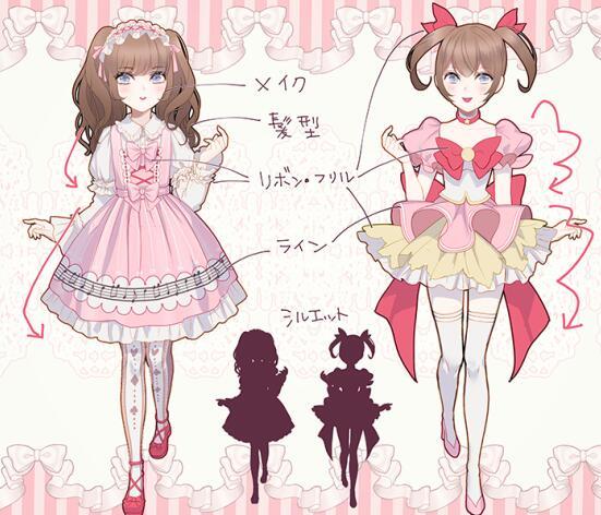 洛丽塔服装怎么画 动漫洛丽塔裙子的画法