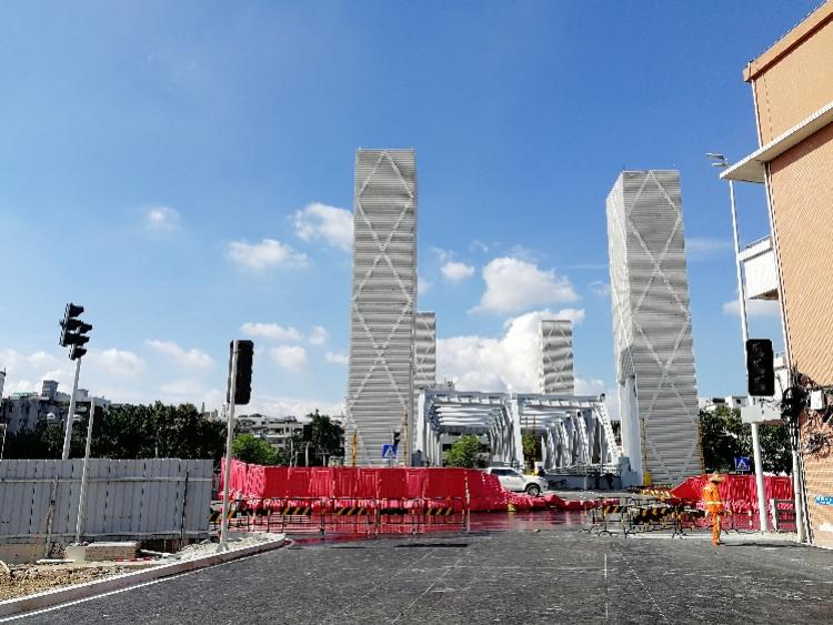 广州首座可升降桥面的跨江大桥光明大桥明天通车
