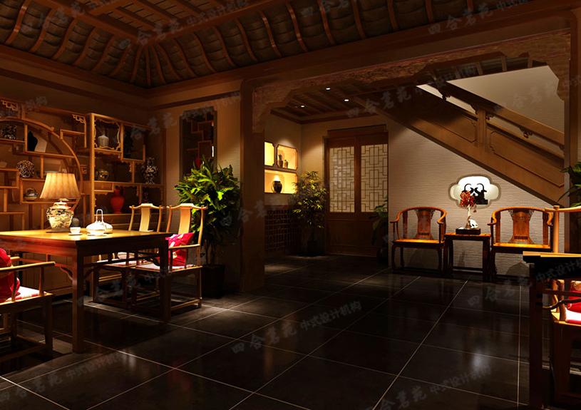 在古韵禅茶中感悟人生 中式茶馆装修设计