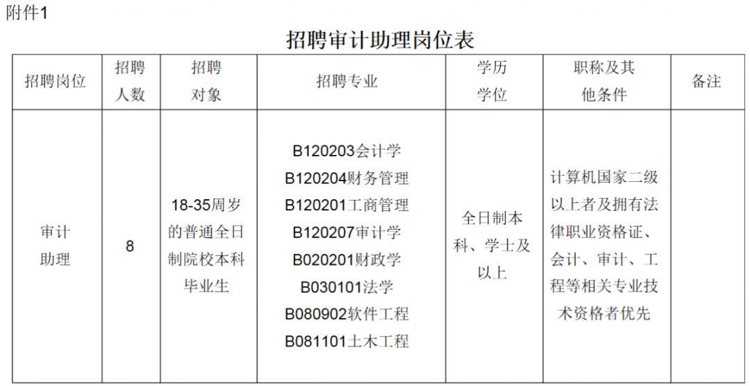 湛江市审计局招聘8名审计助理,9