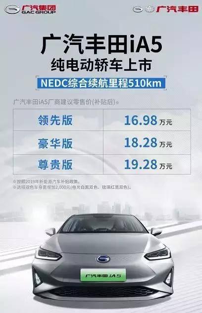 合資純電續航王!廣汽豐田iA5上市讓哪些對手緊張?