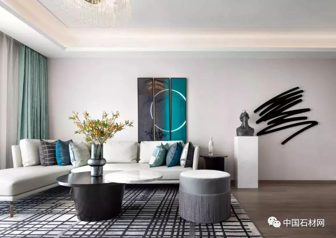 两套现代简约风格的大理石公寓,低奢与感性共存!