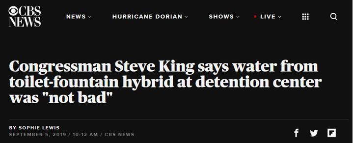 """美国共和党议员""""自曝""""曾在移民拘留中心喝""""马桶水"""":挺不错的……"""