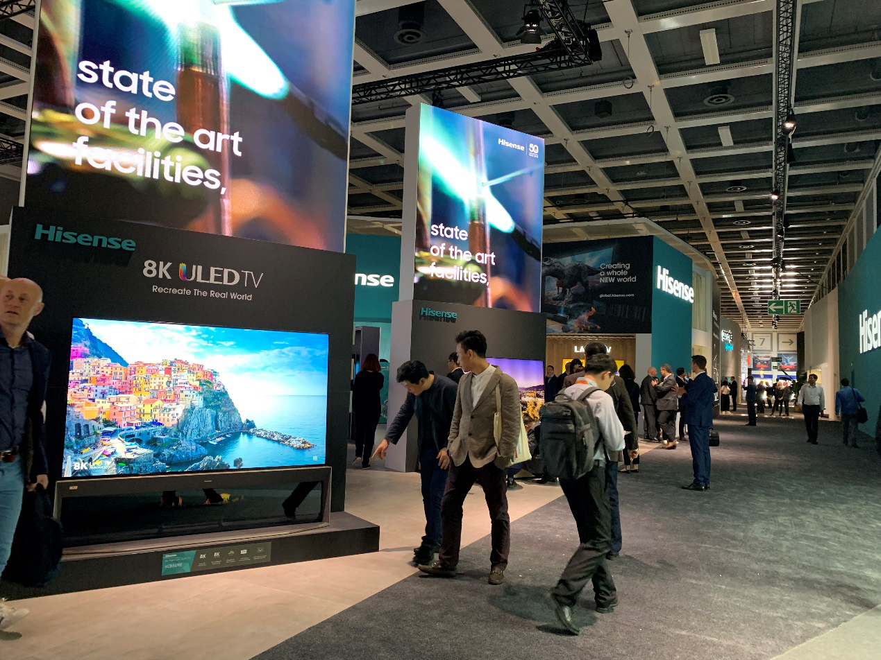 海信电视新品亮相柏林IFA 8K叠屏和屏幕发声激光电视引关注