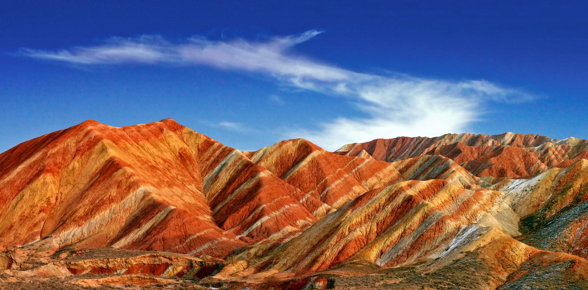 中國七個最美丹霞地貌,六個在南方濕潤地區,只有張掖在干旱西北