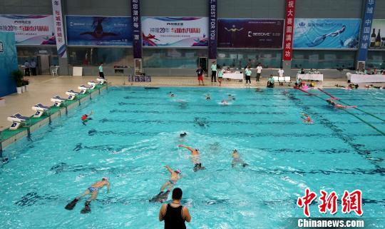 全国水下曲棍球锦标赛在烟台开赛
