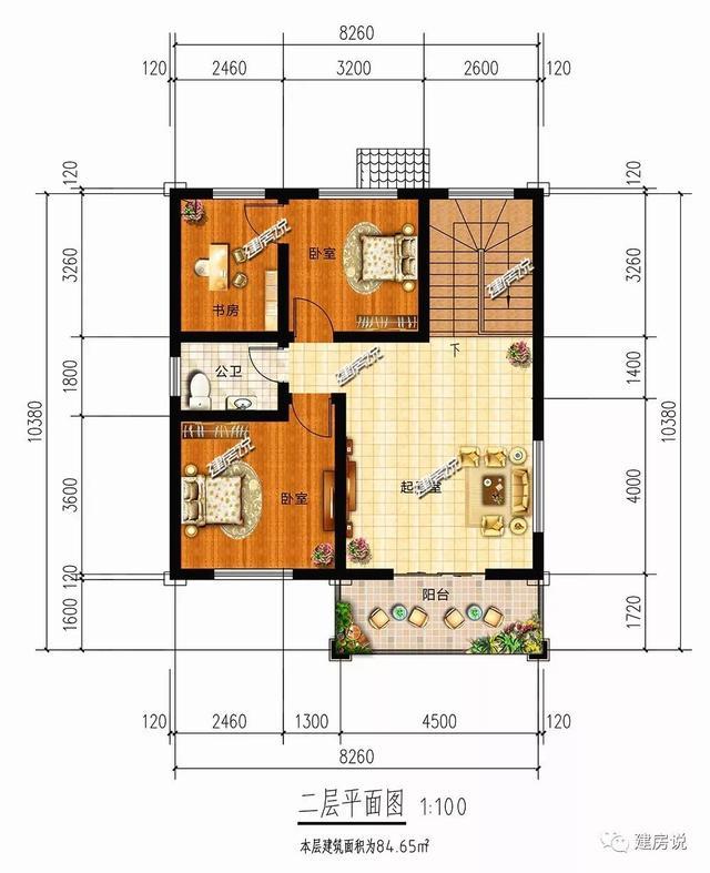 建房说3款农村别墅设计图,占地90平,造价要20万