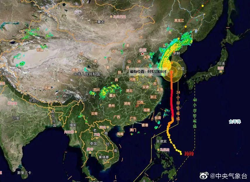"""台风进入东北在即!今天将疯狂""""洒水""""!吉林省发布暴雨蓝色预警,多趟列车停运"""