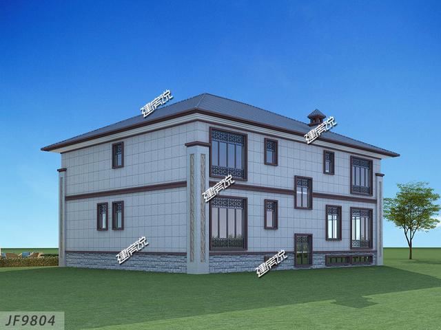 建房说二层新中式农村别墅设计图