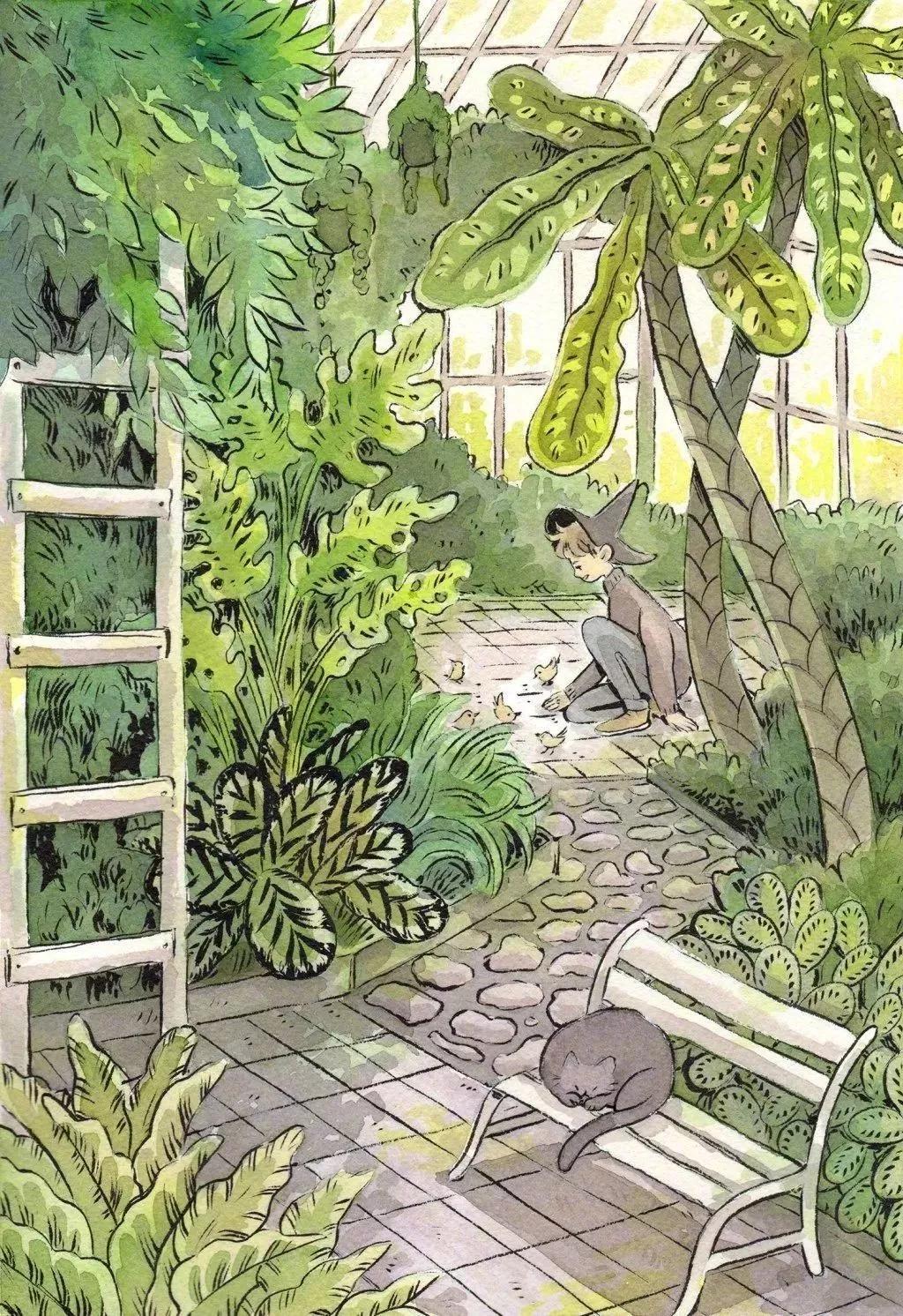 """圈粉百万的""""北欧宫崎骏"""",她的插画实在是太治愈人心了!"""