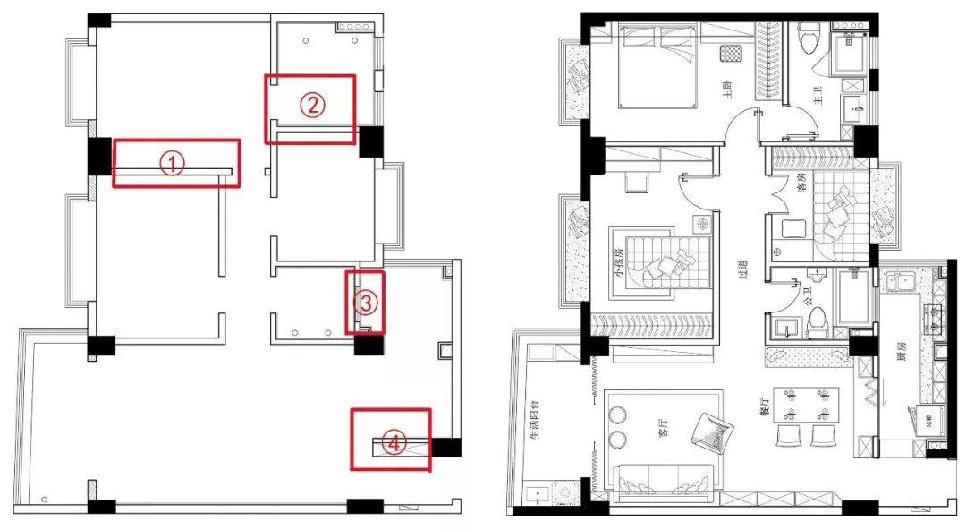 住宅厨房操作平面图