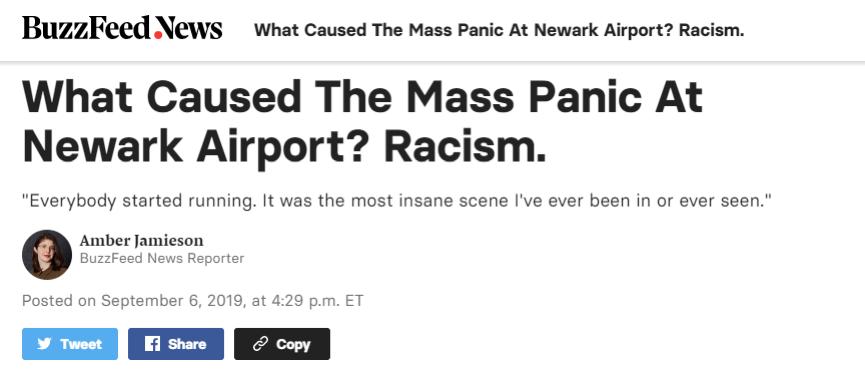 纽约机场陷入恐慌大混乱,起因会让中国人非常不舒服