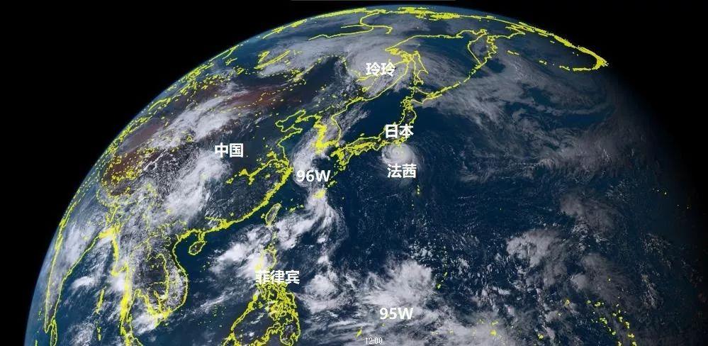 台风法茜成为海洋主角,96W现身我国东海,95W或是16号琵琶前身