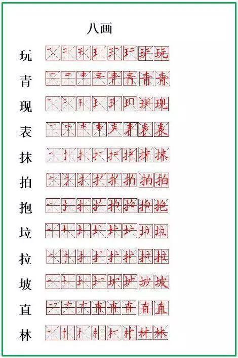 笔顺正确写法,很全面 建议老师和家长收藏 生字笔顺表